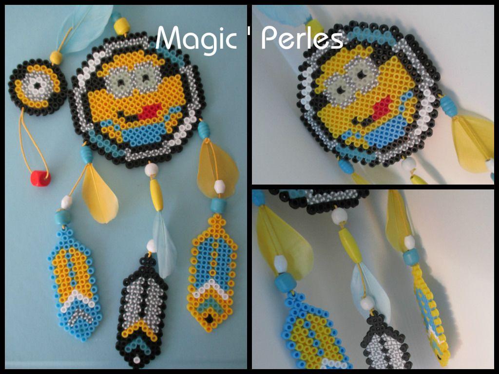 collection attrape r ves minions grand mod le minion dreamcatcher hama perler beads by magic. Black Bedroom Furniture Sets. Home Design Ideas