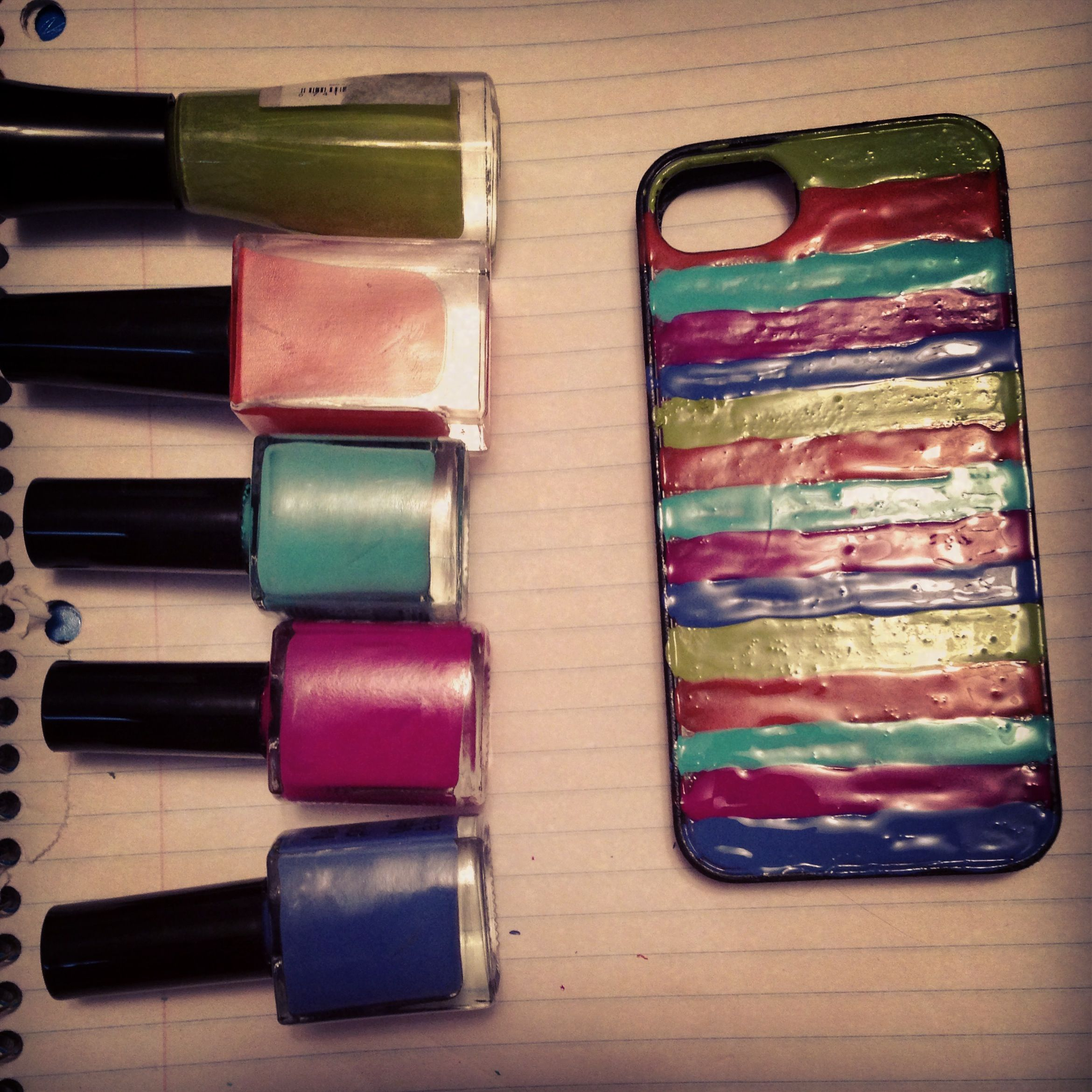 Homemade iphone case with nail polish! | crafts | Pinterest | Crafts
