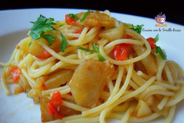 spaghetti al topinambur e pomodori
