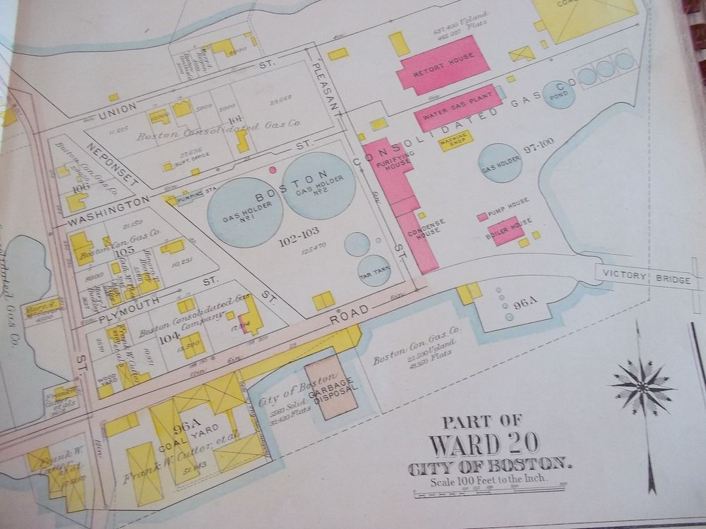 Chicago Map Grid%0A Boston Art Gas Tank National Grid Art Tank Antique Street Map      Original
