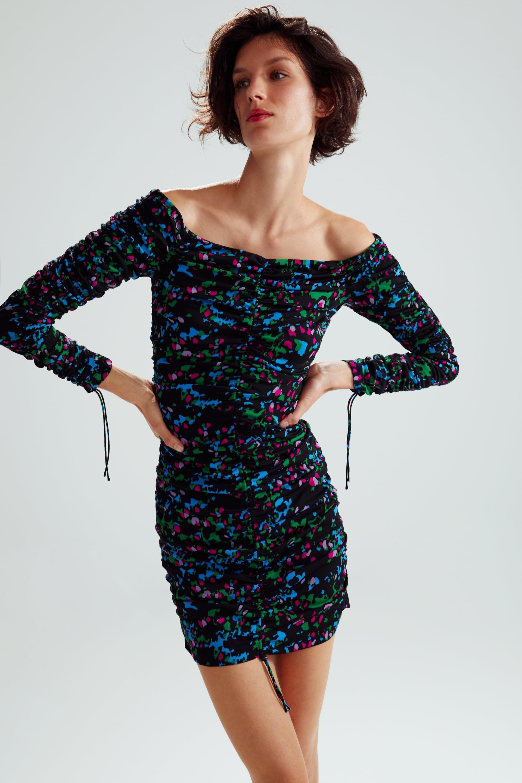 c20f04a546d6e LIMITED EDITION DRAPED PRINT DRESS - View all-DRESSES-WOMAN | ZARA United  States