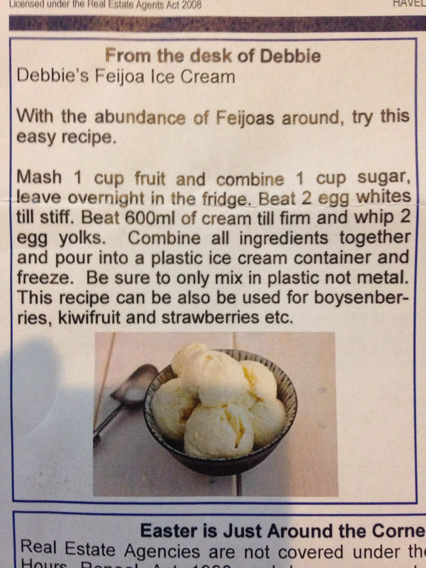 how to make feijoa ice cream