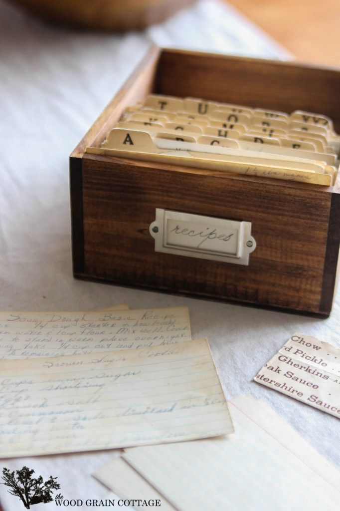 Diy recipe box recipe box crates and box how to make a recipe box out of fruit crates solutioingenieria Choice Image