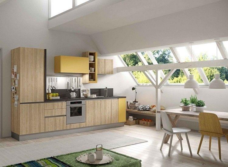 decoracion de cocinas color amarillo   Interiores para cocina ...