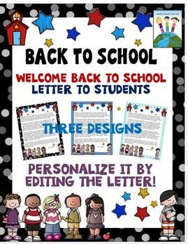 Back to school letters editable welcome letters for students and welcome your new students with a special letter to introduce yourself and start off the school year right there are three different designs with this thecheapjerseys Images