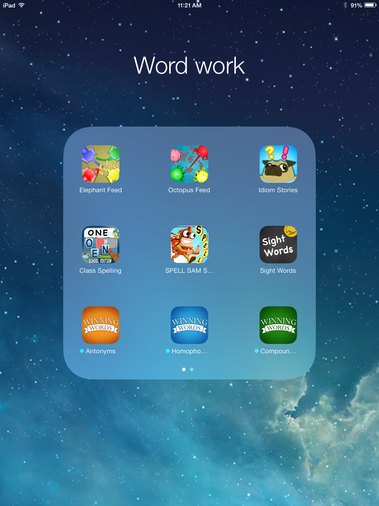 Pad Integration That Works! Daily 5 apps for word work
