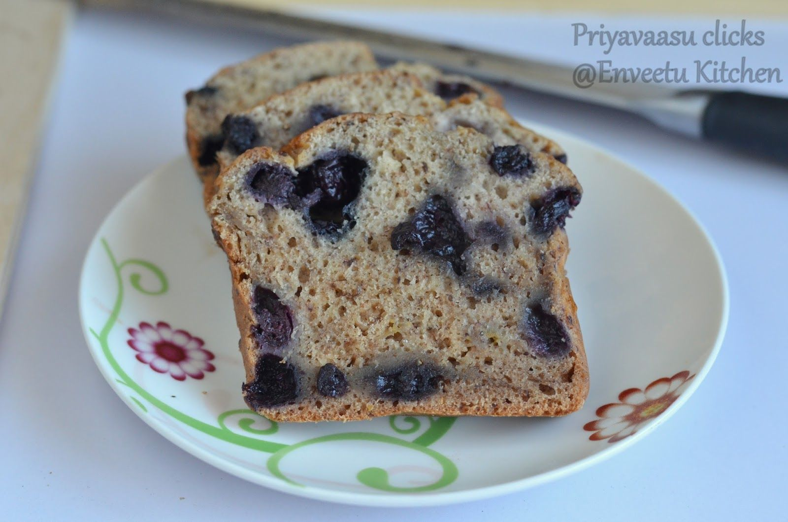 Eggless Blueberry banana bread | I Camp in my Kitchen