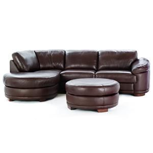 Round End But No Source Small Sectional Sofa