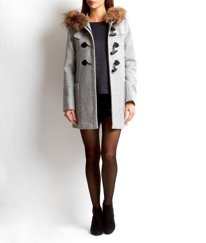 Célèbre Duffle coat ETAM, achat Duffle coat capuche fausse fourrure LOU  KT59
