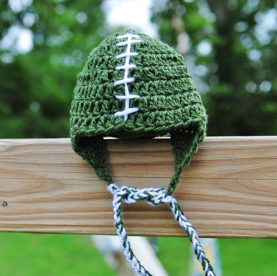 New York Jets Baby Football Hat Newborn hat Baby hat by Kimberose, $20.00