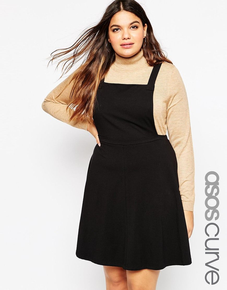Asos curve jersey basic pinafore dress plus size clothing