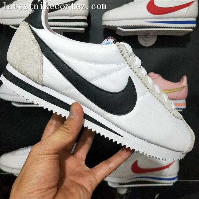 d61e8208e293 2018 Fashion Womens Nike Classic Cortez Nylon Casual Sneakers Gray White  Black