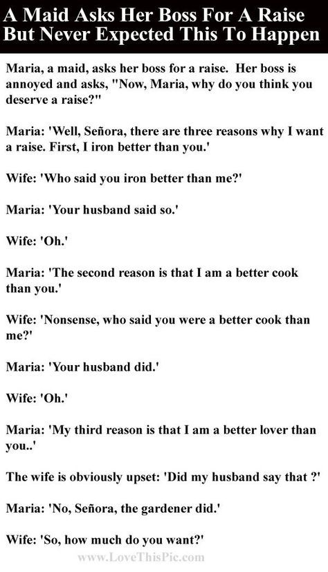 A Maid Asks Her Boss For A Raise But Never Expected This To Happen - joke divorce papers