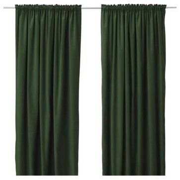 Ikea Dark Green Curtains Living Room Green Curtains Green