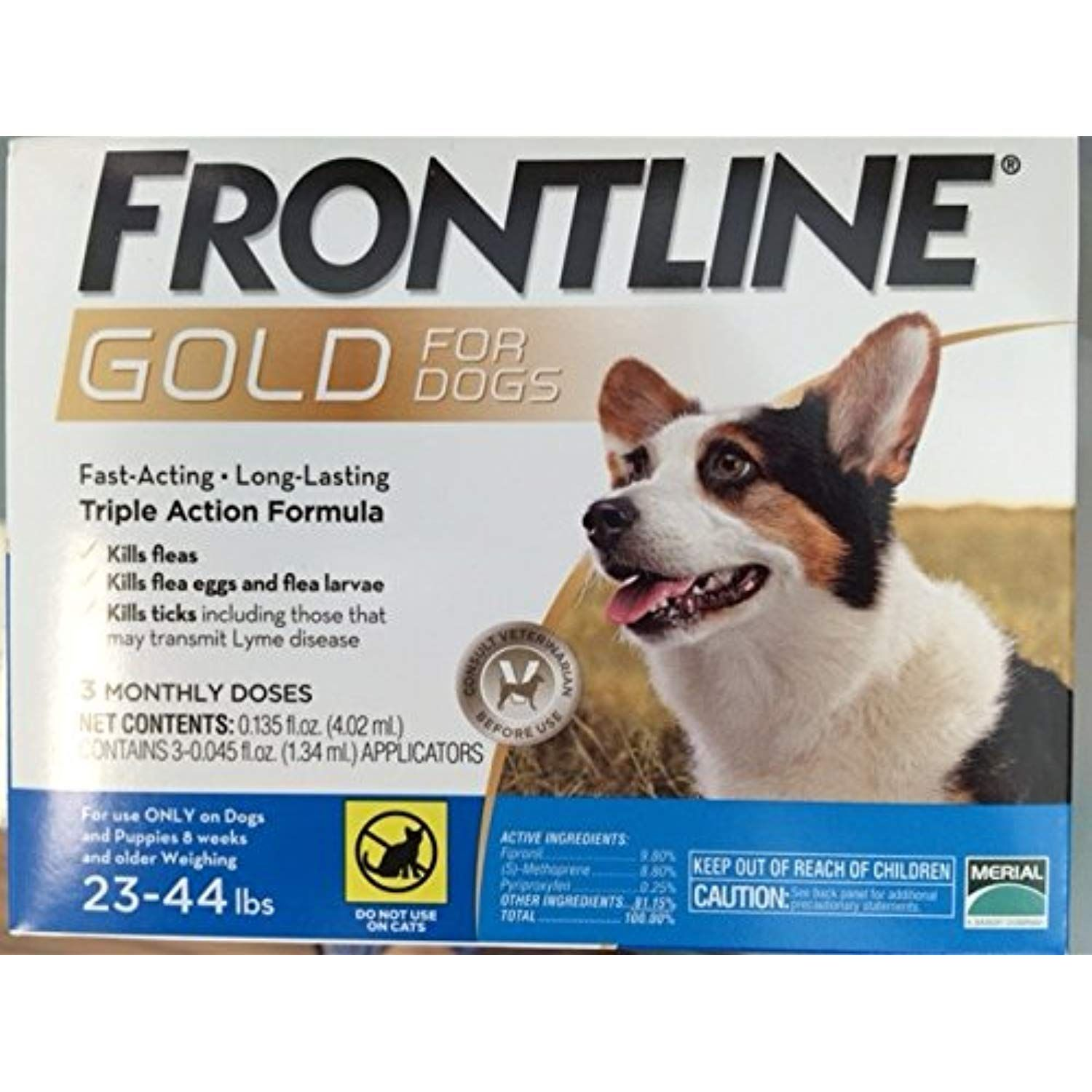 Frontline Gold 3 Dose 2344lbs Click On The Image For Additional Details Dogs Fleas Tick Treatment Flea And Tick