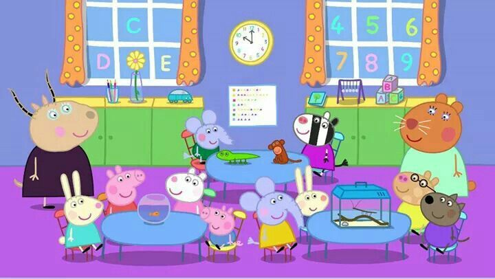 bddc6d993e25 Peppa Pig has Show and Tell!!! Bebe !!! Peppa and her friends at school!!!