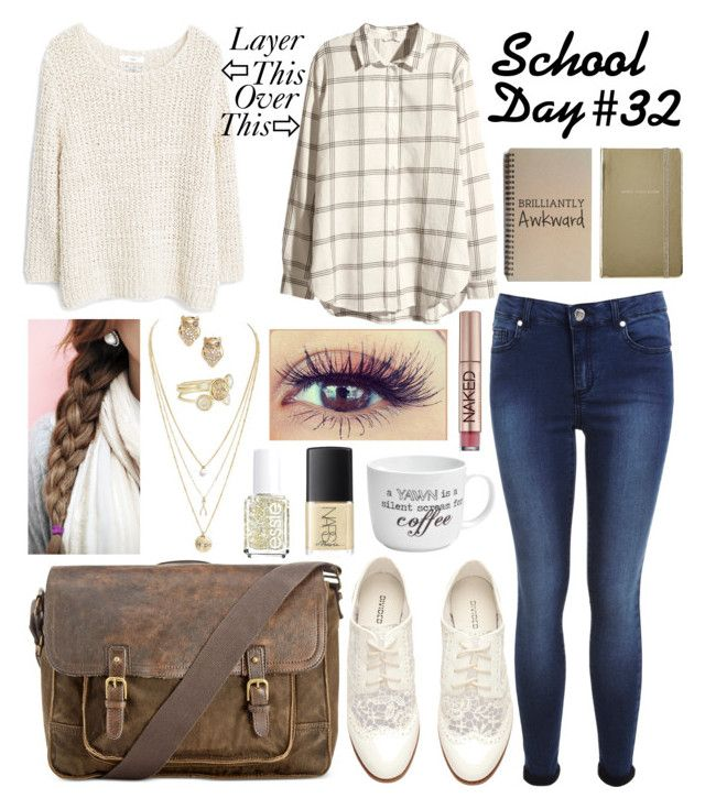 """""""School Day #32"""" by southwestsweetheart ❤ liked on Polyvore featuring H&M, Miss Selfridge, MANGO, Patricia Nash, Pfaltzgraff, Ted Baker, Kate Spade, Urban Decay, NARS Cosmetics and Essie"""