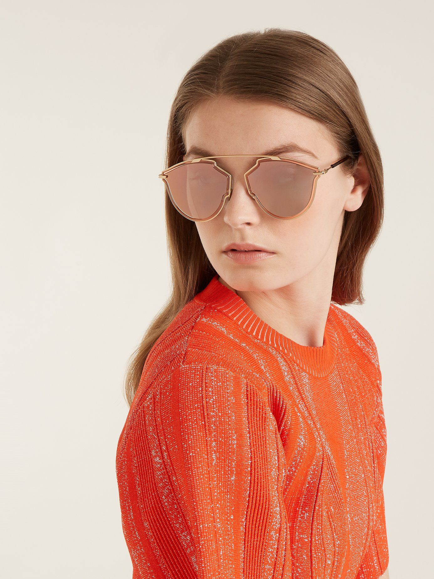 a20db8c132 Dior Eyewear DiorSoRealRise cat-eye sunglasses €348