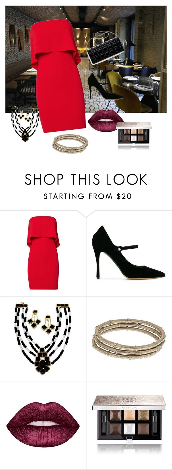 """""""night of love"""" by rose-mary-orihuela-abad on Polyvore featuring moda, CENA, Jay Godfrey, Tabitha Simmons, Evelyn Knight, Lime Crime y Givenchy"""