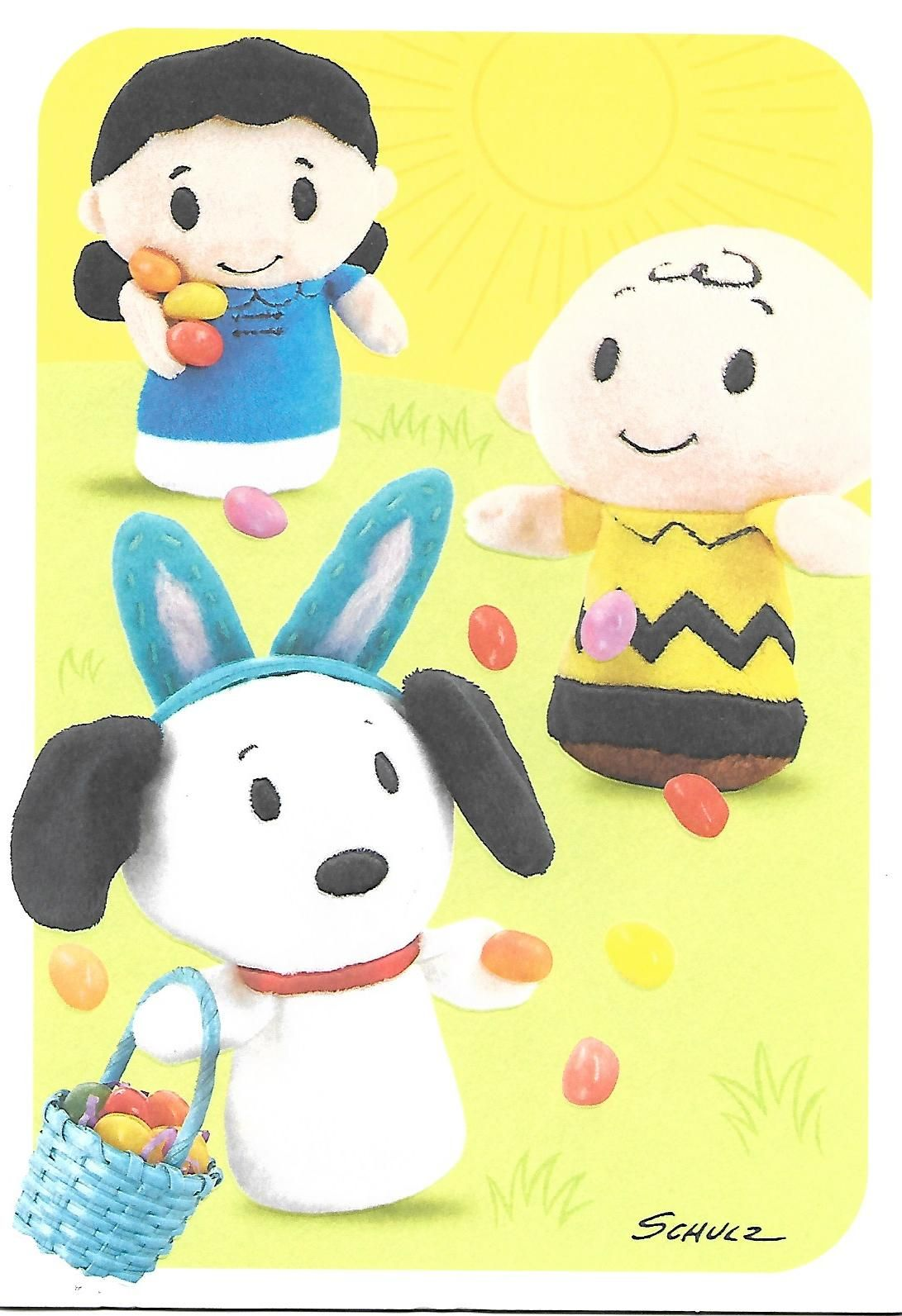 Peanuts itty-bittys Easter greeting card front