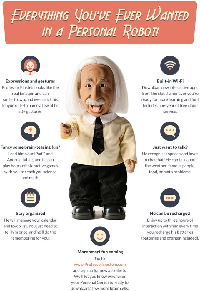 Professor Einstein: Your Personal Genius by Hanson Robotics Limited — Kickstarter