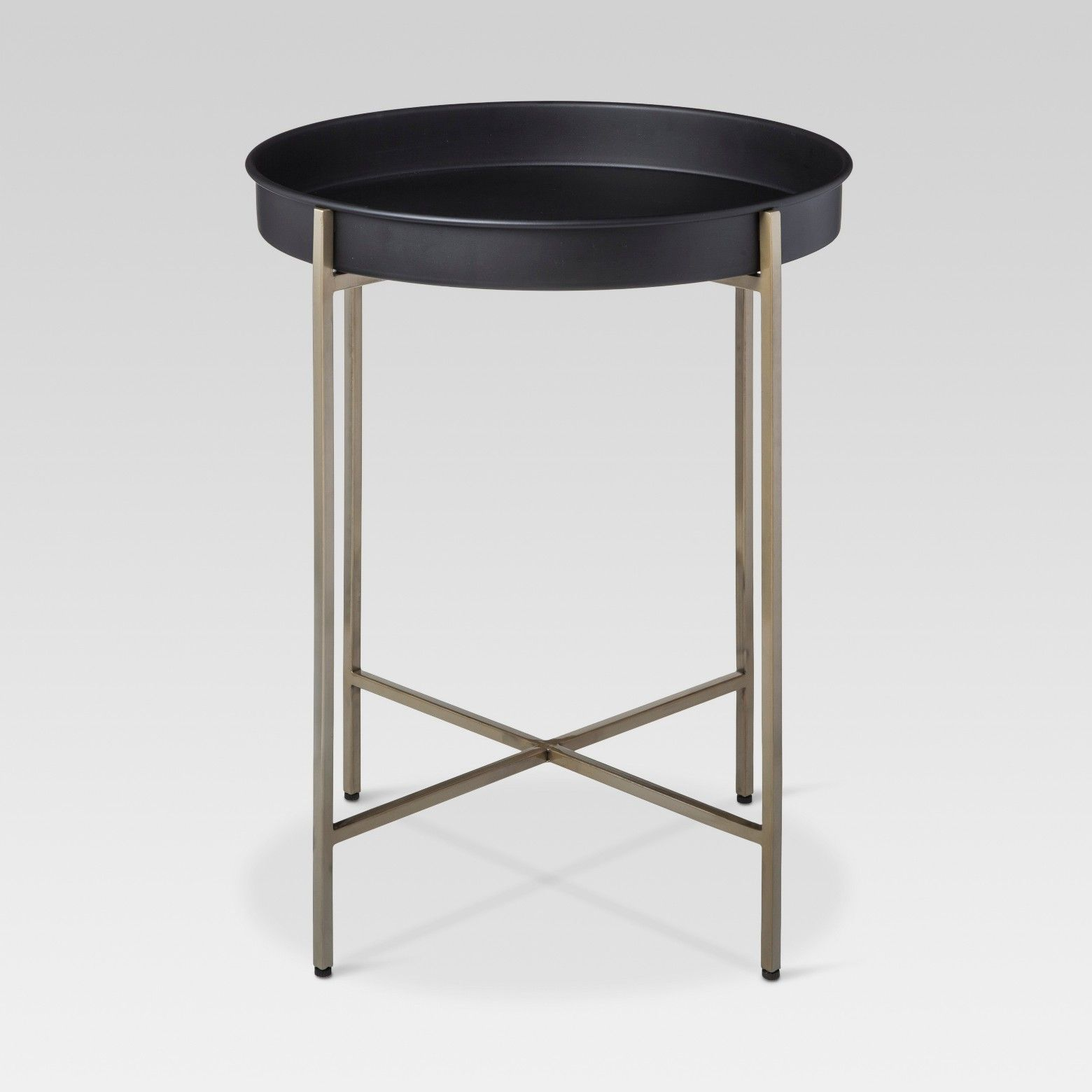 Threshold Brass Tray Accent Table | Trays, Simple designs and Living ...