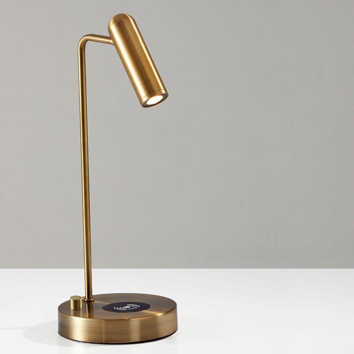Linear Metal Led Wireless Charging Usb Task Lamp In 2020 Lamp Table Lamp Task Lamps