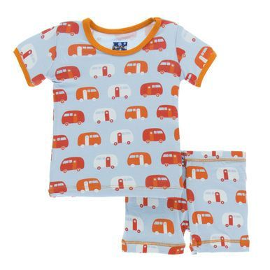 30f9f17a1dbe KicKee Pants Little Boys Print Short Sleeve Pajama Set with Shorts ...