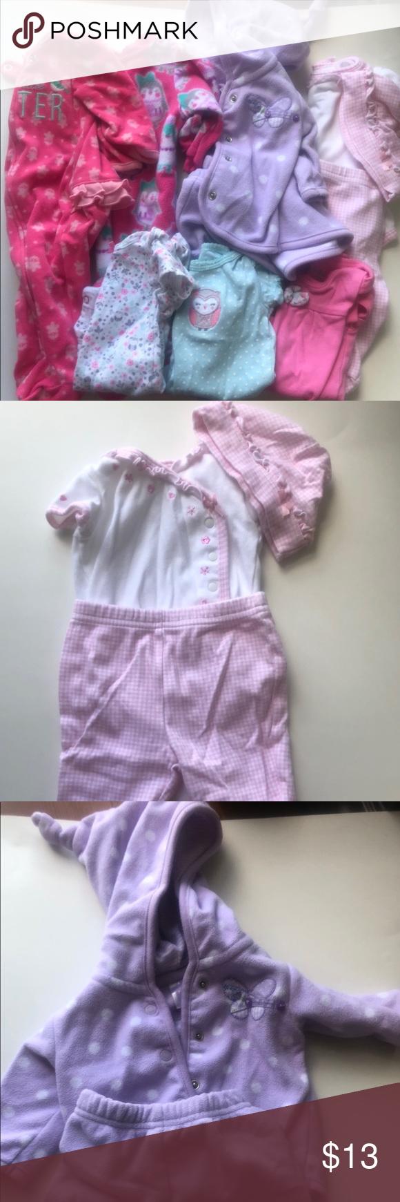 0092832ca Newborn Baby girl bundle Sleepers
