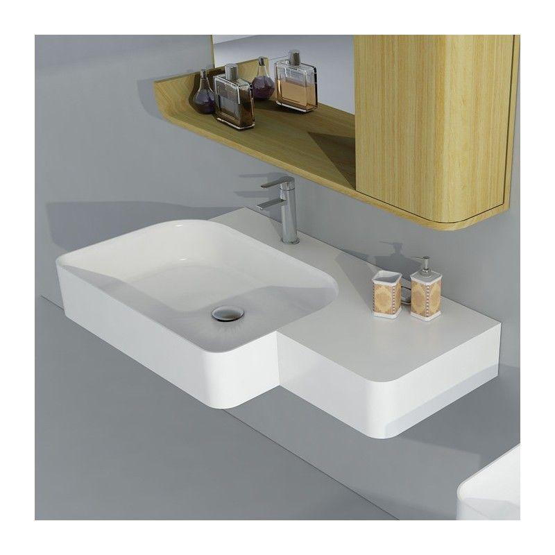 Plan Vasque Solid Surface Ref Sdwd38186 Plan Vasque Vasque Suspendue Vasque