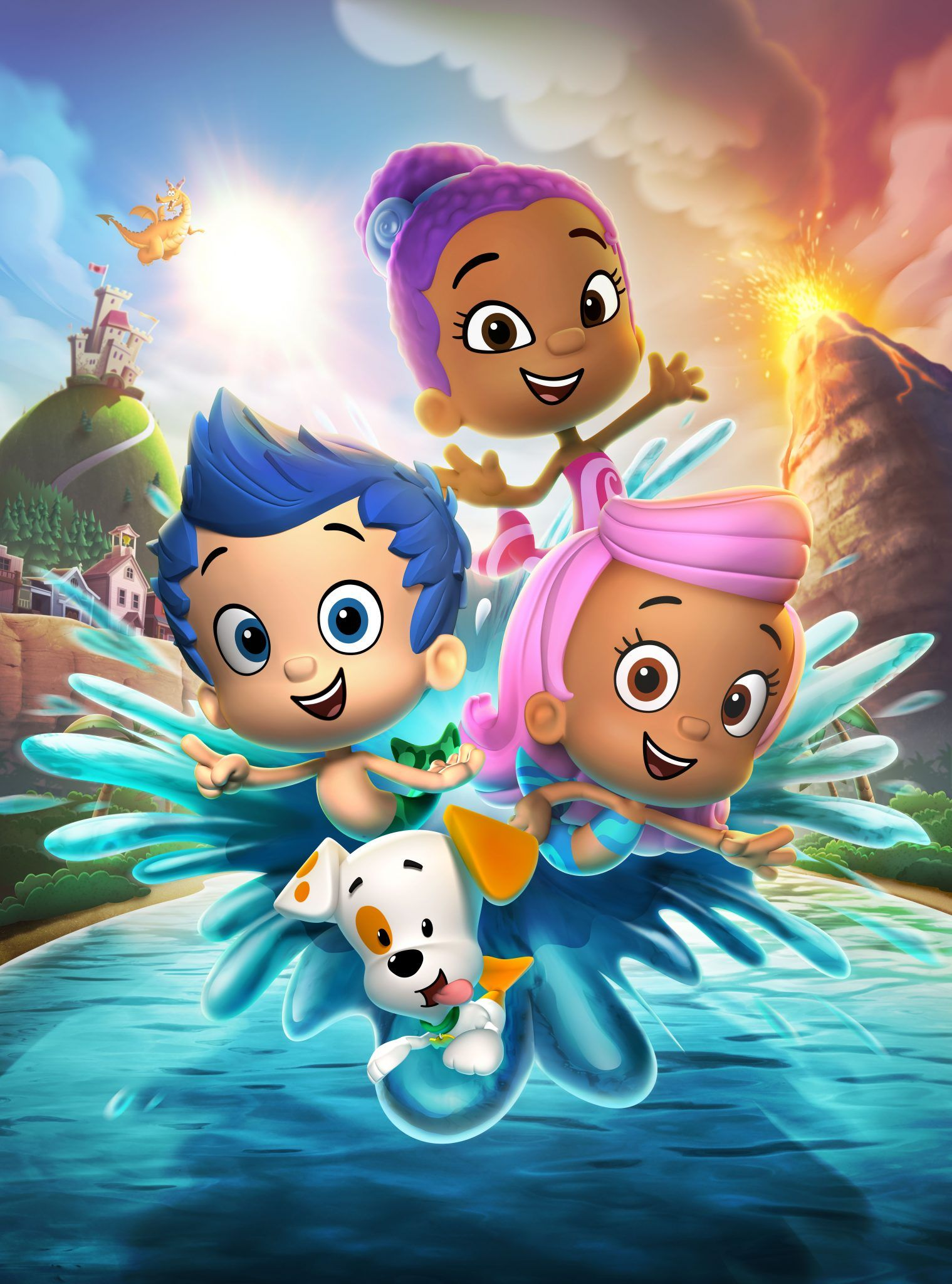New Member Of Bubble Guppies Zooli Nick Jr S Bubble Guppies Guppy Relaxing Coloring Book