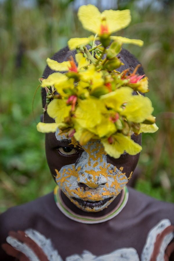 Body art painting omo valley Tribe by Anthony Pappone, via Behance