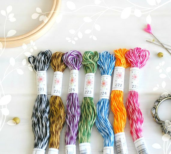 Sublime Stitching Cotton Embroidery Floss Floss 7 Skeins Pack Embroidery Floss Mingles Pallete Embroidery Thread by Sublime