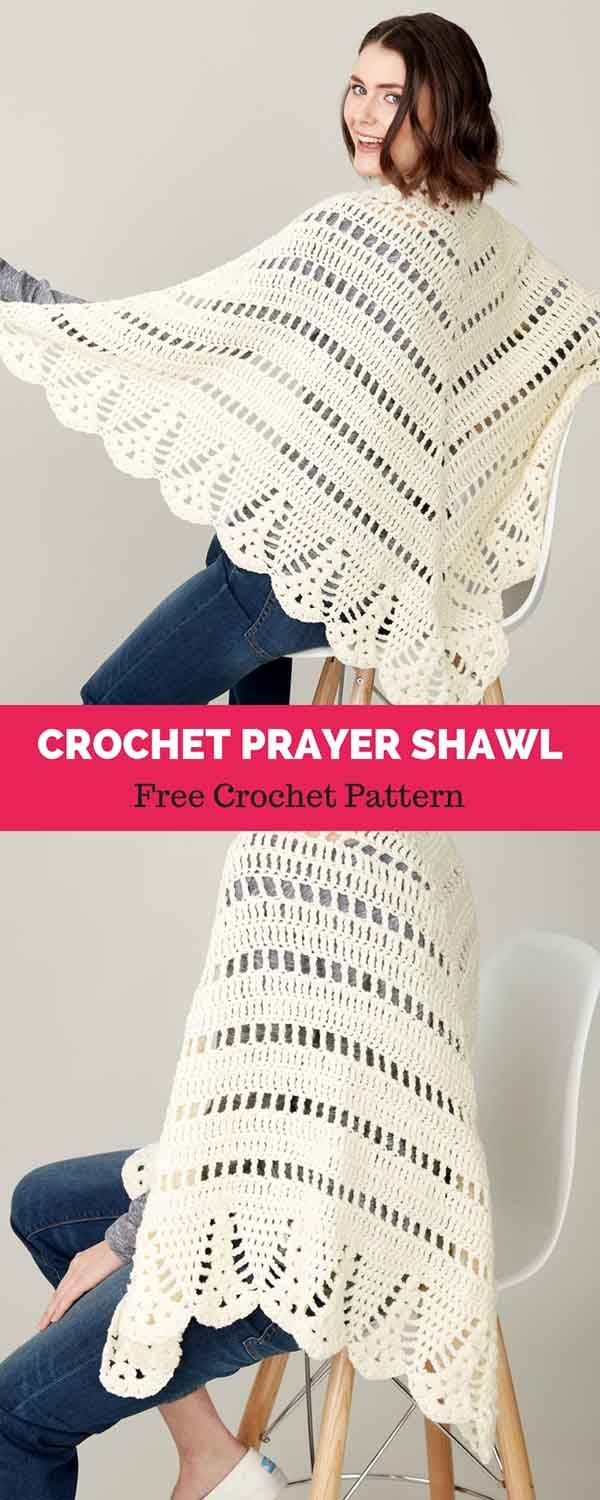 CROCHET PRAYER SHAWL [ FREE CROCHET PATTERN | Chal | Pinterest ...