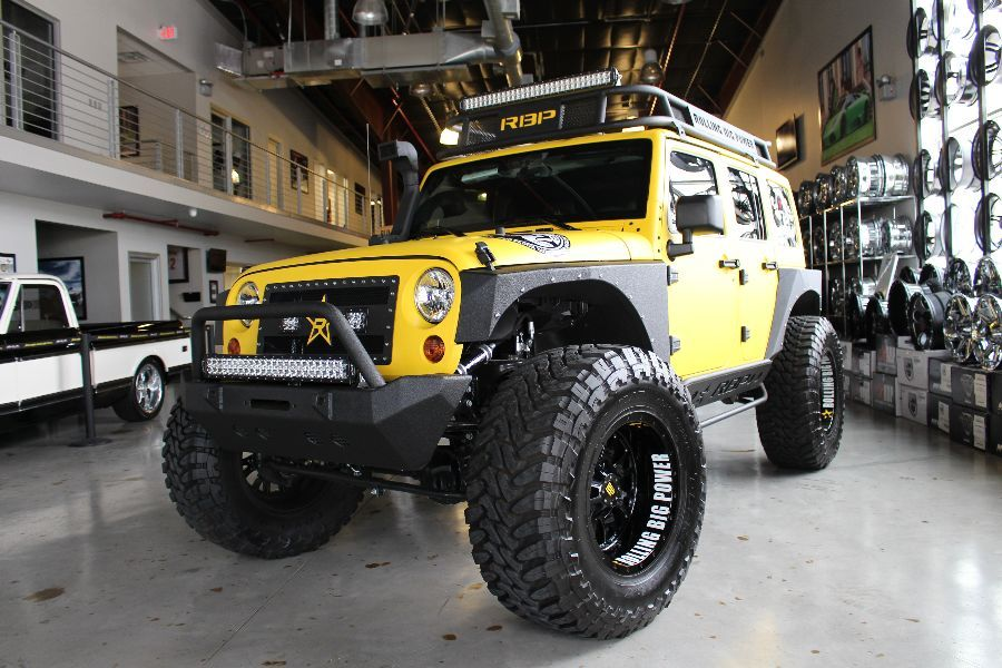 2013 YELLOW RBP JEEP WRANGLER UNLIMITED SPORT WITH 4″ LIFT