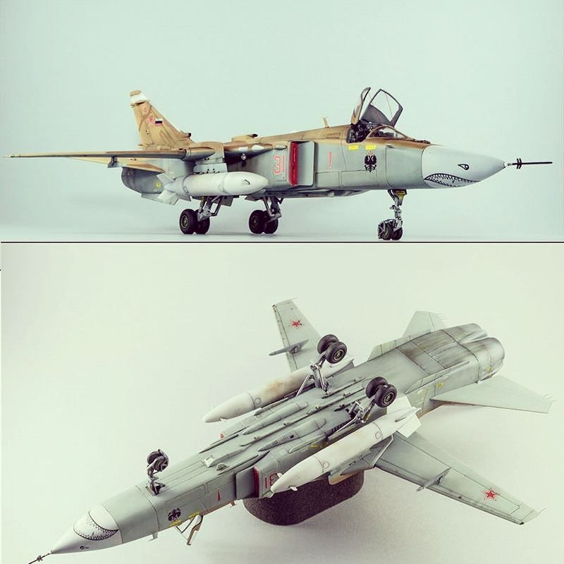 Sukhoi Su-24MK Fencer D. By: Ángel Expósito From: Love Scale Models #miniature #miniatur #miniatura #war #guerre #bataille #guerra #airplane #sukhoi #aeronave #hobby #instahobby #usinadoskits #udk #aircraft #scalemodel #model #scale #miniart #art #miniarte