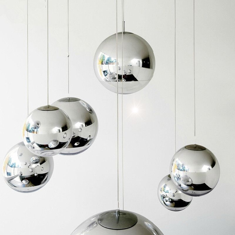 Modern tom dixon mirror glass ball pendant lights restaurant modern tom dixon mirror glass ball pendant lights restaurant chrome globle pendant lamps kitchen hanging light mozeypictures Image collections