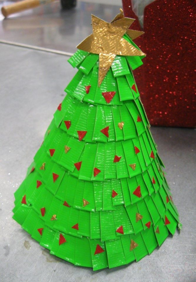 Duct tape Christmas tree Christmas Cover, Christmas Tree, Christmas  Decorations, Xmas, Duct - Duct Tape Christmas Tree Duct Tape Pinterest Duct Tape, Duck