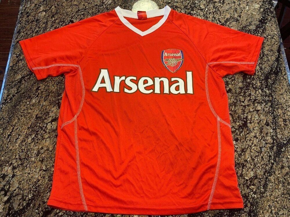 promo code 85b63 a0822 Arsenal F.C. Jersey V Neck Mens Small S Red Soccer Shirt ...