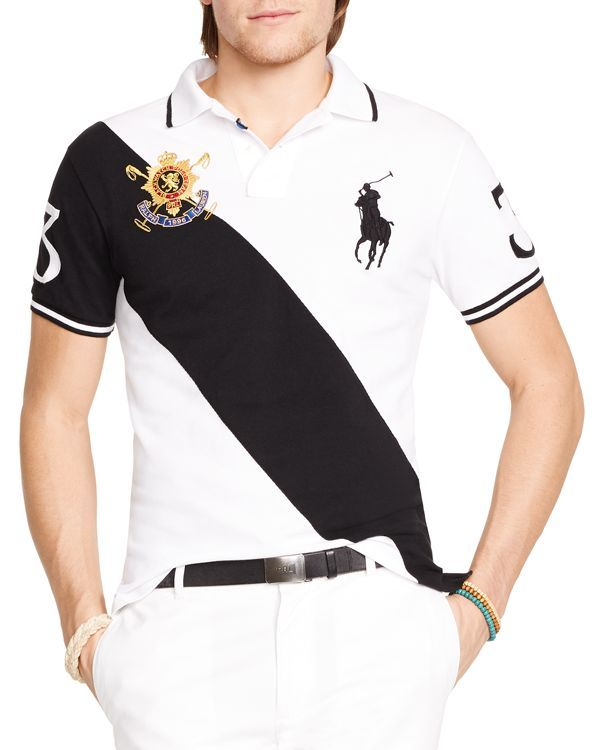 4200a004602bb Polo Ralph Lauren Black Watch Custom-Fit Banner-Stripe Polo Shirt - Slim Fit