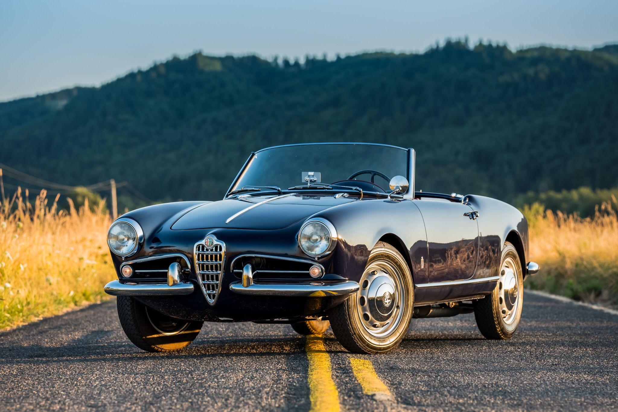Restored 1956 Alfa Romeo Giulietta Spider Alfa Romeo Giulietta Spider Alfa Romeo Giulietta Alfa Romeo