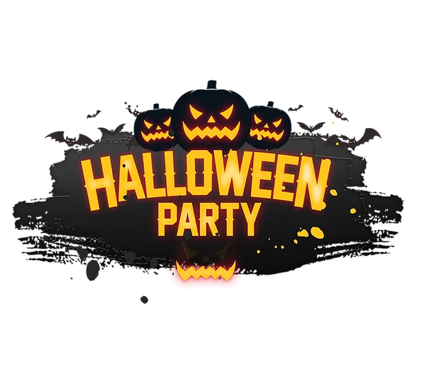 Happy Halloween Party Inscription Printables Png Image Editable Downloadable Upcrafts Design Halloween Party Design Halloween Logo Halloween Fonts