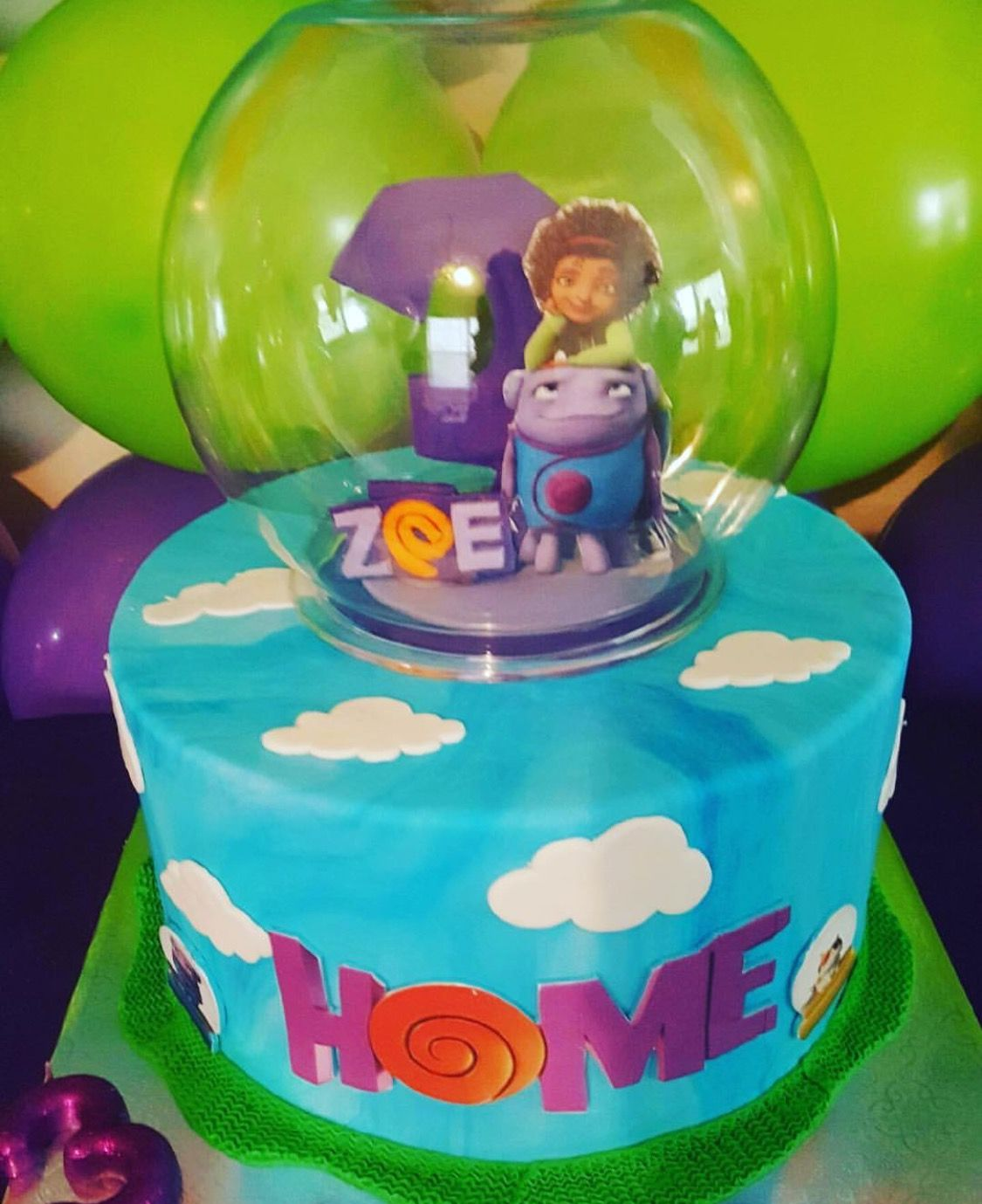 Dreamworks Home Boov Party Home Cake Dreamworks Home Party