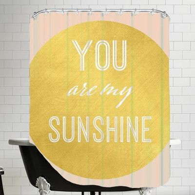 Brayden Studio Peach Gold You Are My Sunshine Gold Single Shower