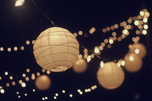 White Chinese Lanterns Everywhere And Fairy Lights Perfect Decoration For A Party