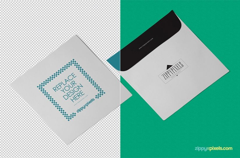 Free Envelope Mockup In Isometric View  Mb  Zippypixels