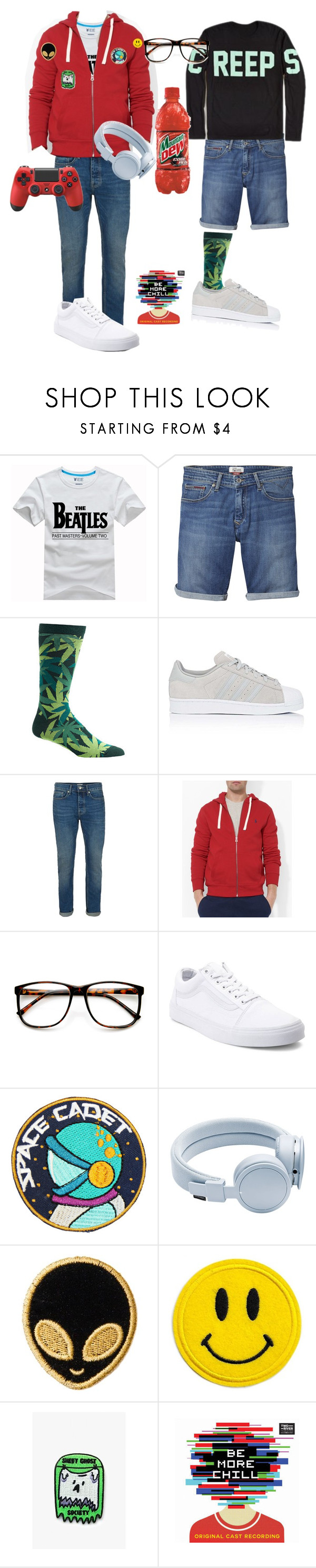 """""""Untitled #441"""" by totaltrashmammal ❤ liked on Polyvore featuring Tommy Hilfiger, Ozone, adidas, Topman, Polo Ralph Lauren, ZeroUV, Vans, Urbanears, Stoney Clover Lane and Mokuyobi"""