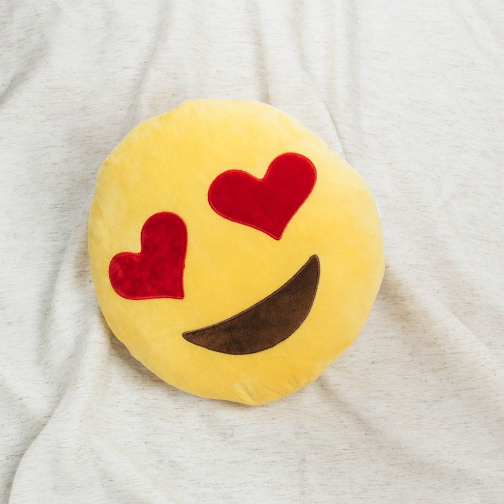 Heart eyes emoji throw pillow products pinterest eyes emoji