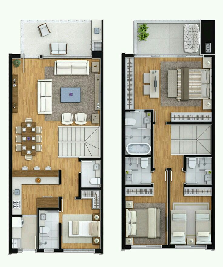 All With Ensuite 4 Berm D Le Storey House Plans