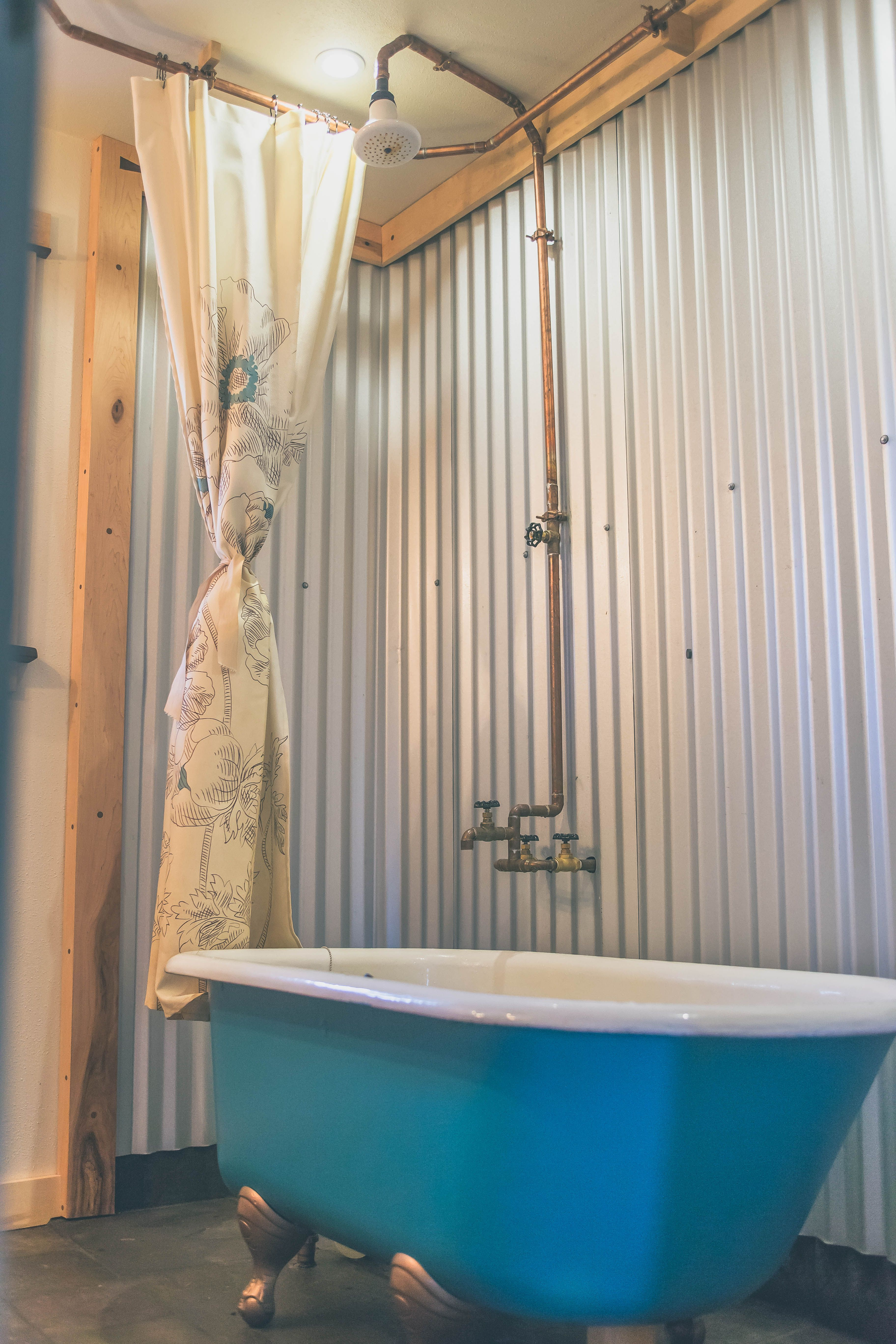Industrial Outdoor Shower Industrial Claw Foot Tub And Shower Shabby Chic Meets